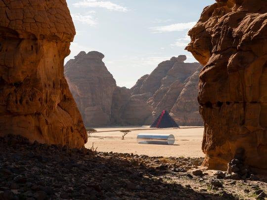 """Nasser Al Salem's installation """"Amma Qabl"""" at Desert X Al Ula in Saudi Arabia"""