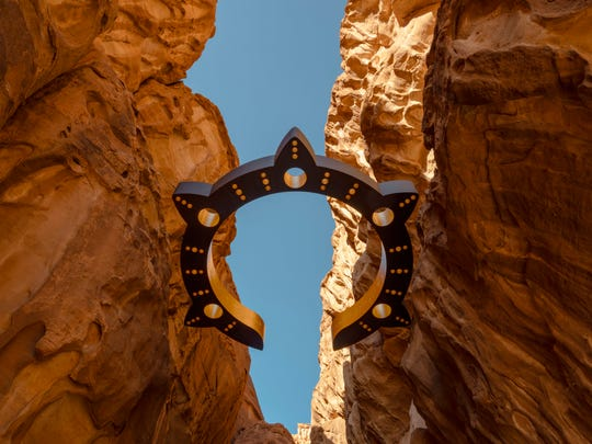 "Sherin Guirguis' installation ""Kholkhal Aliaa"" at Desert X Al Ula in Saudi Arabia"