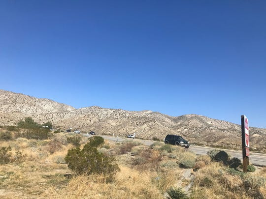This photo shows Highway 62 where it elevates at Indian Canyon Drive, west of Desert Hot Springs. Caltrans announced the road would be repaved the week of Feb. 24, 2020 and drivers should expect traffic delays since the number of lanes will be reduced during construction.