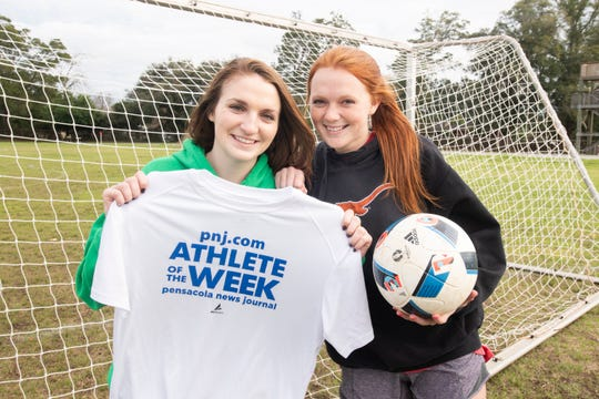 Athlete of the Week - Pensacola High School soccer player - Shannon Duffy, left, and her sister Riley Duffy  -  Thursday, Feb. 13, 2020.