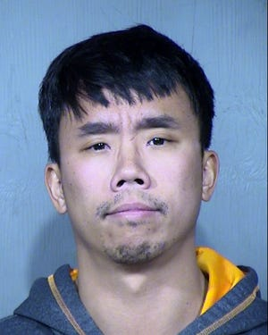 Raymond Tang, 31, was arrested Feb. 12 on suspicion of intentionally causing a crash with a Waymo vehicle on Jan. 30