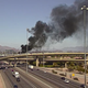 A vehicle on fire has caused a closure of the ramp from eastbound I-10 to US-60 on Thursday Feb 13
