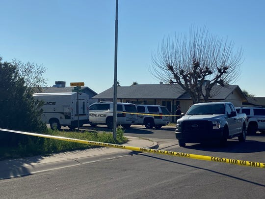 The scene near West Redfield Road and North 60th Drive in Glendale on Feb. 13, 2020.
