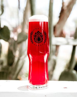 Desert Rose Cactus Ale gets its rich hue from organic prickly pears from Tucson. The beer is available on tap at Goldwater Brewing Co.'s locations in Scottsdale and Mesa.