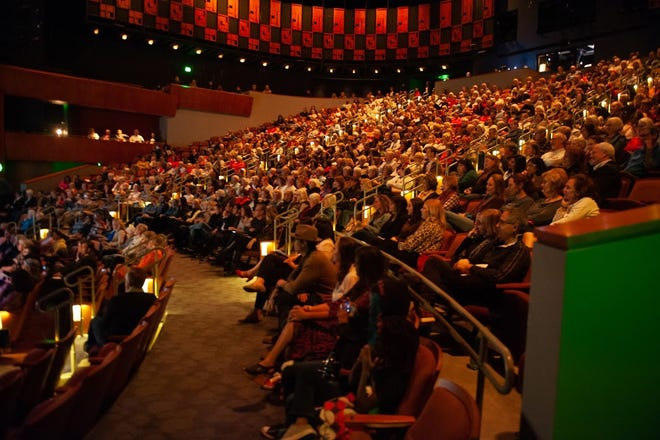 """The audience listens as Arizona Storytellers Project presents """"Love, Like and It's Complicated"""" on Feb. 11, 2020, at the Scottsdale Center for Performing Arts."""