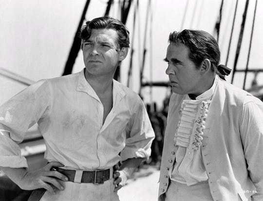 "Clark Gable and Charles Loughton star in ""Mutiny on the Bounty,"" screening Sunday at the Capitol Theatre."