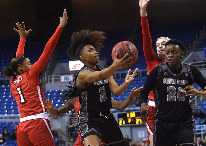 Nevada's Da'Ja Hamilton (2) will be one of the few returning players on the Pack's 2020-21 roster. Nevada added seven signees on Thursday, including four transfers.
