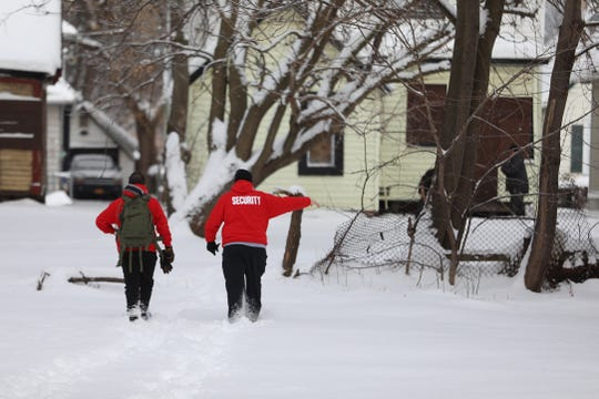 Volunteers associated with the group called Hope Dealers, a support group who meet weekly in the northeast of Rochester to engage with people with substance abuse issues. They also clean up syringe litter that piles up in the area.
