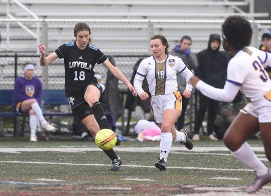 Sophomore Kennedy Jarrett (18) has enjoyed a breakthrough season for the Lady Flyers. Jarrett, who played little last year, has 23 goals to her credit, including the game winner in Friday's state semifinal.