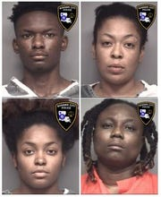Clockwise from upper left: Trevion Miles, Alisha Miles, Kabreshia Sims and Shambria Miles.