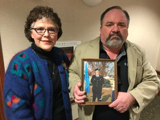 Jeff and Lesa Dahl of Castlewood testified before the House in February about their son, 19-year-old Jacob Dahl, who died when he hit a soybean truck while taking a photo with his cell phone.