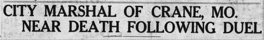 This headline was atop the front page of the evening edition of The Springfield Leader on March 8, 1927. Marshal David William Waymire died five days later. He was shot in the stomach and the bullet created 10 holes in his intestines.