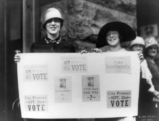 Encouraging women to vote