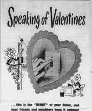 Clipping of an advertisement for the Virginia Electric and Power Company from the Tuesday, Feb. 14, 1950, edition of The News Leader.