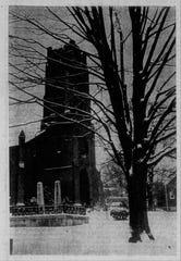 The Trinity Episcopal Church in snow.