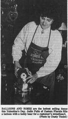 Florists were working around the clock to prepare for Valentine's Day in 1990.