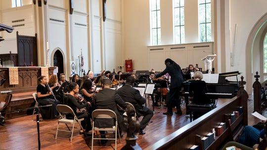 Javacya Elite Chamber Orchestra shown will perform on Feb. 21 with Rachel Barton Pine.