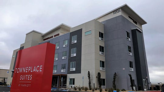 This 92-room TownePlace Suites by Marriott at 11521 Gateway West Blvd., between Lee Trevino and George Dieter Drives in East El Paso,  is scheduled to open in April.