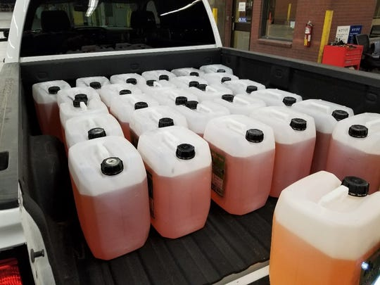 A load of 1,543 pounds of liquid meth was seized Wednesday by U.S. Customs and Border Protection officers at the Zaragoza Bridge in El Paso.