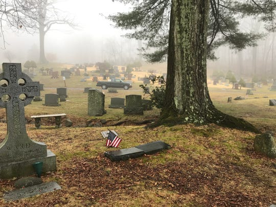 A view of the grave of modernist painter Vaclav Vytlacil at Rockland Cemetery in Sparkill  Feb. 13, 2020.