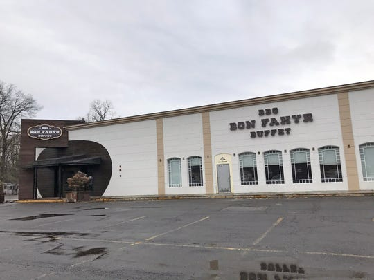 A view of the former Bon Fahyr Buffet at Tappan Plaza in Tappan Feb. 13, 2020.