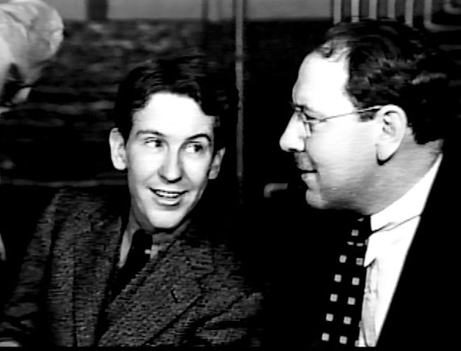 Burgess Meredith and playwright Maxwell Anderson.