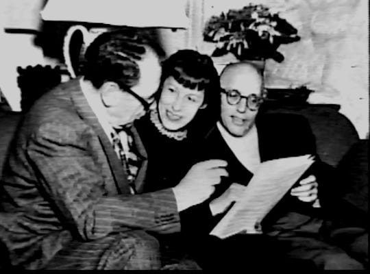 Maxwell Anderson, Lotte Lenya and Kurt Weill, who were neighbors on South Mountain Road in New City.