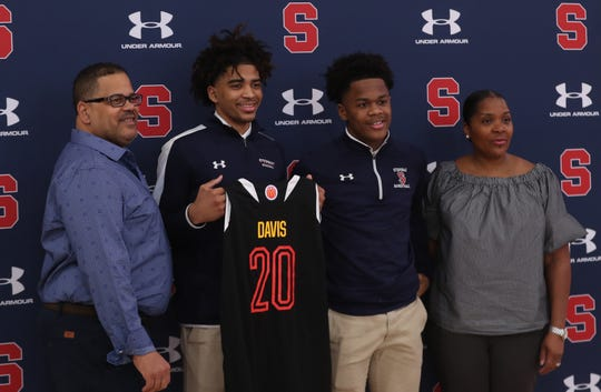 Archbishop Stepinac's R.J. Davis'  Mcdonald's All-American press conference at Stepinac High School in White Plains Feb. 13, 2020.