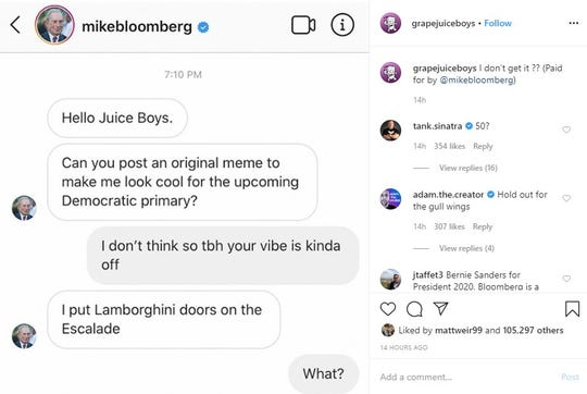 @grapefruitboys shared this fake message with Bloomberg Wednesday night. The account has 2.7 million followers.