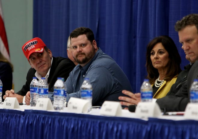 Twelve Republicans took part in a candidate forum for the 13th District Congressional race sponsored by the Wichita County Republican Party Wednesday, Feb. 12, 2020, in the Ray Clymer Exhibit Hall at the MPEC.