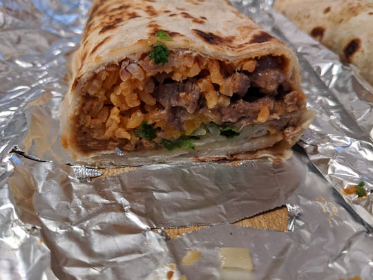 A Julian burrito from Julian's Burritos.