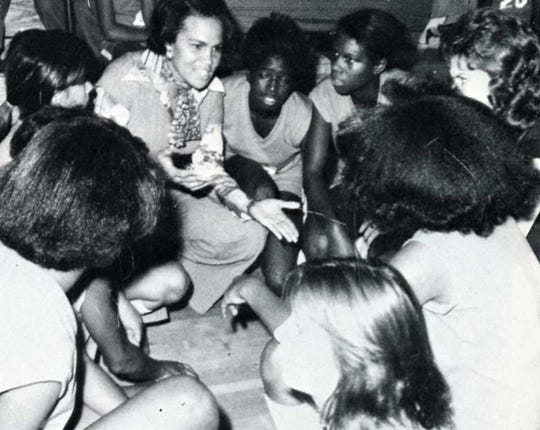 Diann Taylor and her basketball team at Kirby Junior High in 1977.