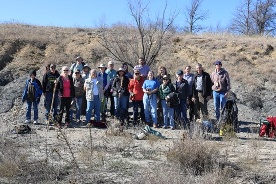 Texas Master Naturalists enjoying a fossil education trip on Feb. 1, 2020.