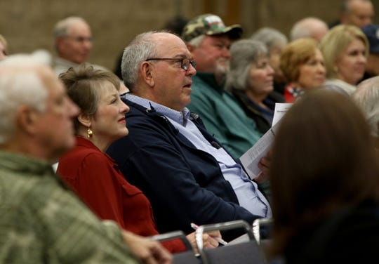 A candidate forum for the 13th District Congressional race was sponsored by the Wichita County Republican Party Wednesday, Feb. 12, 2020, in the Ray Clymer Exhibit Hall at the MPEC.