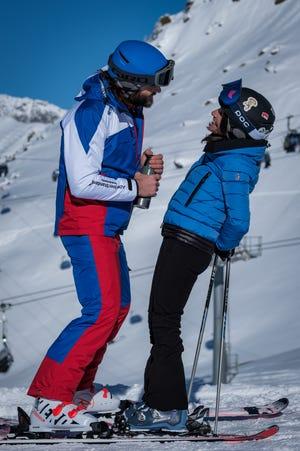 Giulio Berruti plays ski instructor Guglielmo who gets up close with Julia Louis-Dreyfus's married Billie.