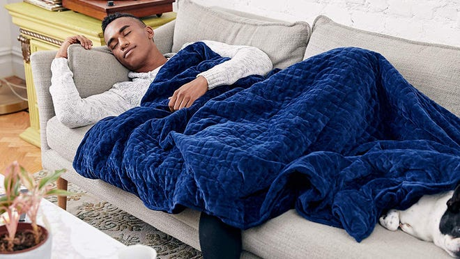 Get sweet dreams and an even sweeter discount on this popular weighted blanket.