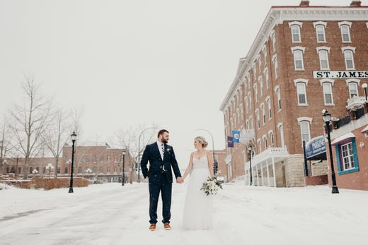 """<strong><a href=""""https://www.historichotels.org/hotels-resorts/st-james-hotel-mn"""">St. James Hotel</a></strong> (1875) &bull; Red Wing, Minnesota &bull; Proposals and romance happen at the St. James Hotel in a variety of spaces in and around the grounds, the charming town of Red Wing and the beautiful landscape of the Southern Minnesota region. There are several popular places in the hotel for couples to get engaged: in the cozy and intimate library with fireplace, outdoor patio with twinkling lights on a warm summer evening and the Port Restaurant with white tablecloths and a warm atmosphere."""