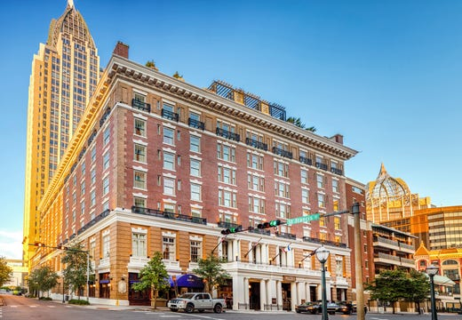 """<a href=""""https://www.historichotels.org/hotels-resorts/battle-house-renaissance-mobile-hotel-and-spa""""><strong>Battle House Renaissance Mobile Hotel &amp; Spa</strong></a> (1852) &bull; Mobile, Alabama &bull; Known as Mobile's Living Room, the Battle House is an iconic landmark and the ideal place for a proposal. The eighth floor of the historic building at the hotel has a rooftop garden overlooking the downtown historic district. From this rooftop oasis, staff at the hotel can change the colors of the exterior of the building to become a favorite hue of your loved one. This is one of the most popular places for proposals. The iconic lobby at Battle House is another great place to pop the question. Afterward, dine in a historic setting with farm-to-table cuisine."""