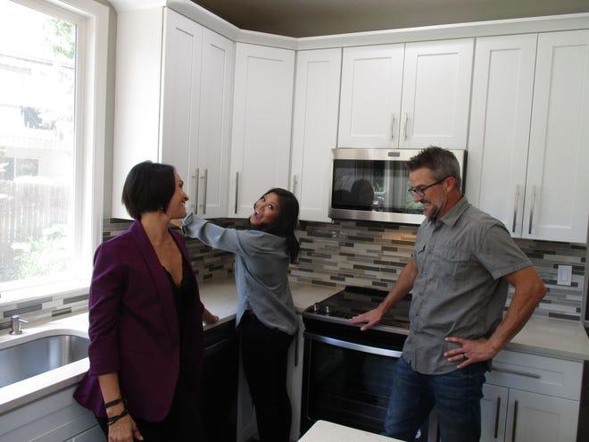 "Lori, Geli and Brian on HGTV's ""House Hunters."""
