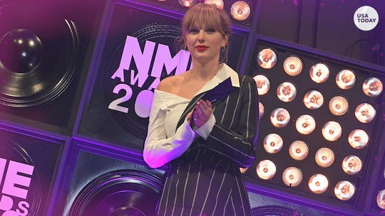 Taylor Swift, boyfriend Joe Alwyn show moment of rare PDA at London's NME Awards