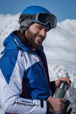 "Giulio Berruti's Guglielmo enjoys his special Alpine coffee in ""Downhill."""