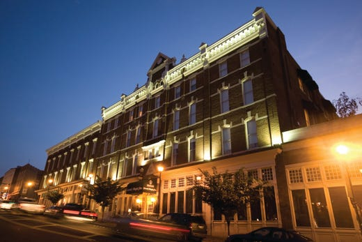 """<strong><a href=""""https://www.historichotels.org/hotels-resorts/general-morgan-inn-and-conference-center"""">General Morgan Inn &amp; Conference Center</a></strong> (1884) &bull; Greenville, Tennessee &bull; The General Morgan Inn is a gorgeous historic hotel that dates back to1884 with fine furnishings and signature service that reflect the refined era of yesteryear. The hotel also features the award-winning Brumley's Restaurant with three distinct dining rooms, which make the perfect location for a romantic dinner for two by candlelight. The most-frequented spot for romantic proposals is the second floor, rooftop Garden Terrace at night under the stars. The terrace has breathtaking views of Historic Downtown Greeneville and several church steeples.&nbsp;"""