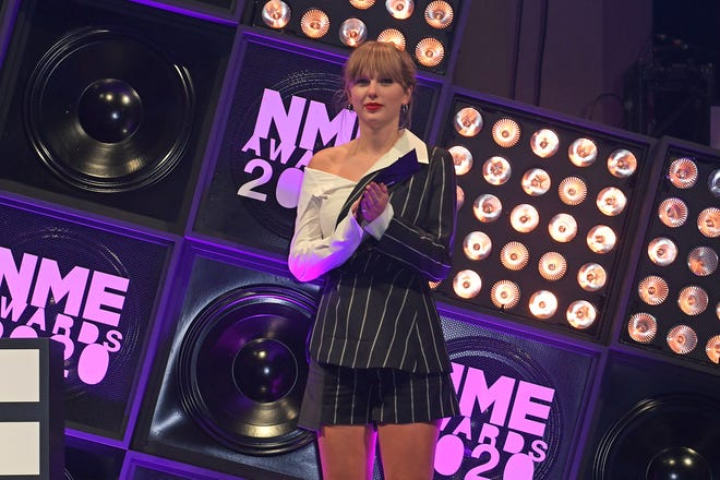 Taylor Swift attends The NME Awards 2020 at the O2 Academy Brixton on February 12, 2020 in London.