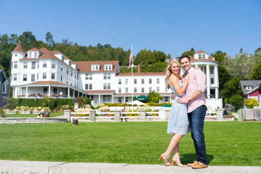 """<a href=""""https://www.historichotels.org/hotels-resorts/island-house-hotel/""""><strong>Island House Hotel</strong></a> (1852) &bull; Mackinac Island, Michigan &bull; For over a century and a half couples have said I will, I do and I still do on the grounds of Island House Hotel. Located within the Mackinac State Historic Park, one might pop the big question on the terrace or the porch of the historic Island House Hotel with a spectacular view of boats gliding into the harbor and carefree bicyclists wheeling and horse-drawn buggies moseying past on the street below. More intimate moments are found in the hideaway garden behind the hotel. Historic charm and timeless elegance bring love birds back to Island House Hotel year after year to celebrate weddings, reunions, anniversaries and vow renewal."""