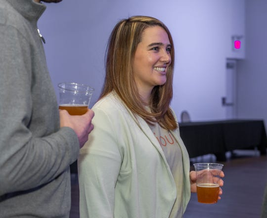 The APP presents Jersey Shore Influencers: Craft Beer Edition at iPlay America, Chelsey Ziolkowski  owner of  Bradley Brew Project.  photo/James J. Connolly/Correspondent