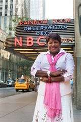 """Pat Battle,the co-anchor for NBC 4 New York's """"Weekend Today in New York."""""""