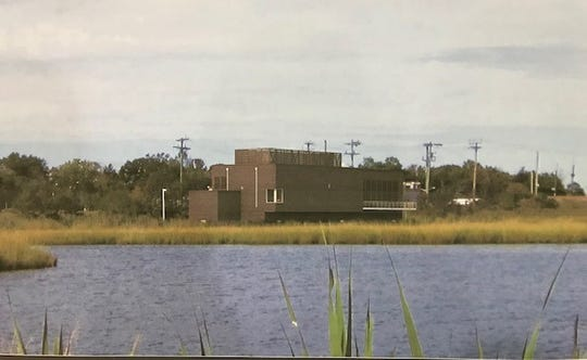 Rendering of new New Jersey Transit Bay Head substation, which will be located next to Twilight Lake.