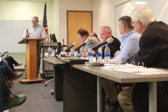 Jim Cruzan addressed the Madison County Board of Commissioners Feb. 11, following his dismissal from the Madison County Sheriff's Office.