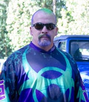 Northwest Paintball Park owner Jim Estes announced this month that the long-running paintball park would close this year. Pictured: Estes with paint in his hair.