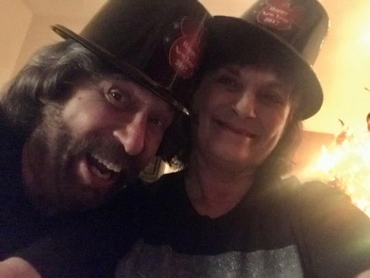 FLORIDA TODAY columnist Britt Kennerly and her husband, Doug, celebrating New Year's Eve 2019.